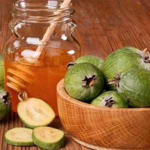 Смесь фейхоа с медом – прекрасный источник йода