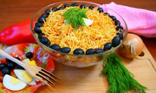 Салат Мечта Олигарха! Красивый Простой Вкусный праздничный салатик!