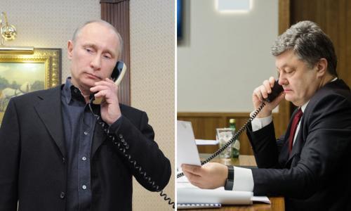 Украинские СМИ сообщили о телефонном разговоре Путина и Порошенко