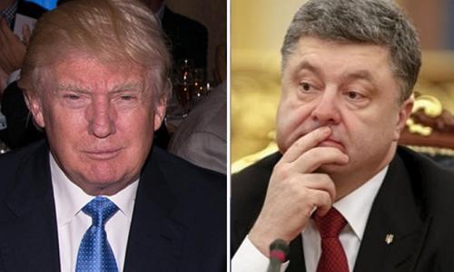 Трамп вынудил Порошенко пасть в ноги Путину
