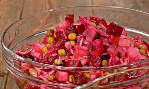 Салат Винегрет с квашеной капустой