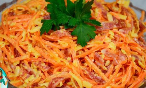 Рецепт-выручалка, когда гости на пороге - салат за 5 минут