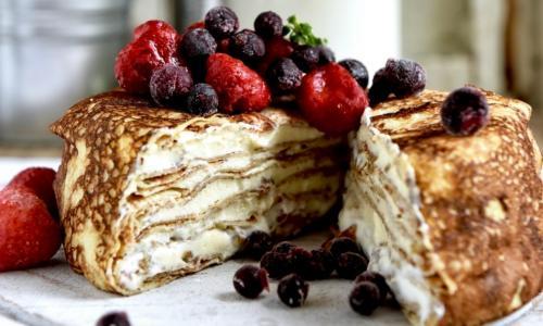 Блинный торт как из кондитерской: элегантный десерт