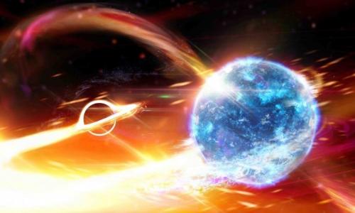 Космическое слияние: учёным удалось обнаружить процесс поглощения нейтронной звезды чёрной дырой